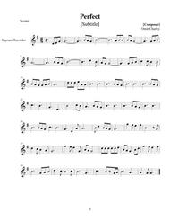 Download Perfect Recorder Notes Sheet Music By Ed  Sheeran - Sheet