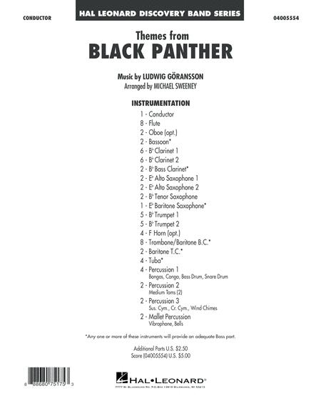 Themes from Black Panther - Conductor Score (Full Score)