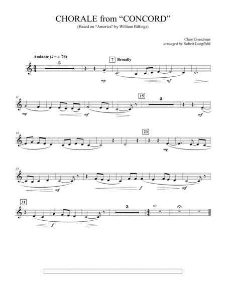 Chorale from Concord - Bb Trumpet 3