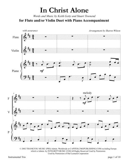 Download In Christ Alone (for Flute And/or Violin Duet With Piano