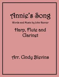 Annie's Song, for Harp, Flute and Clarinet