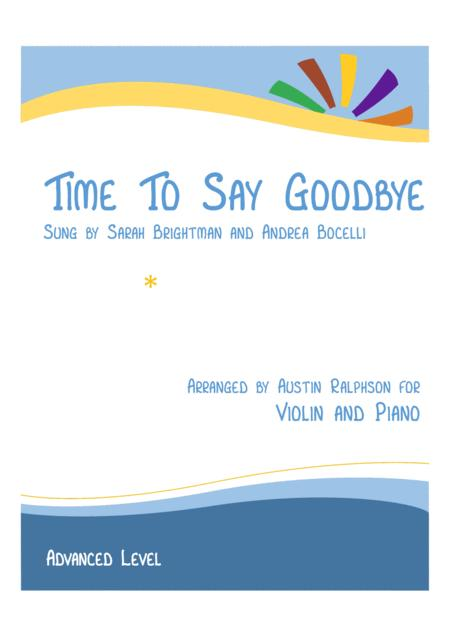 Time To Say Goodbye (Con te partirò) - violin and piano