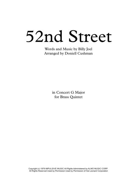 52nd Street - Brass Quintet