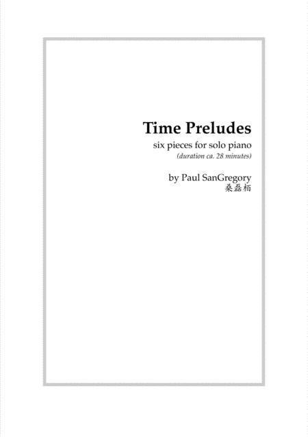 Time Preludes (for solo piano)