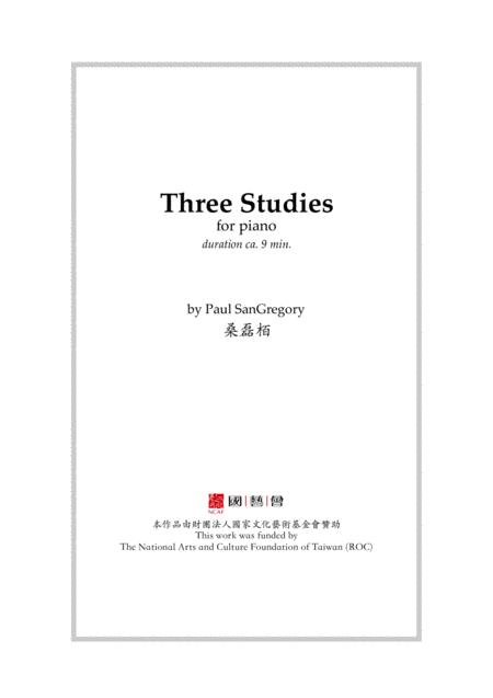 Three Studies (for solo piano)