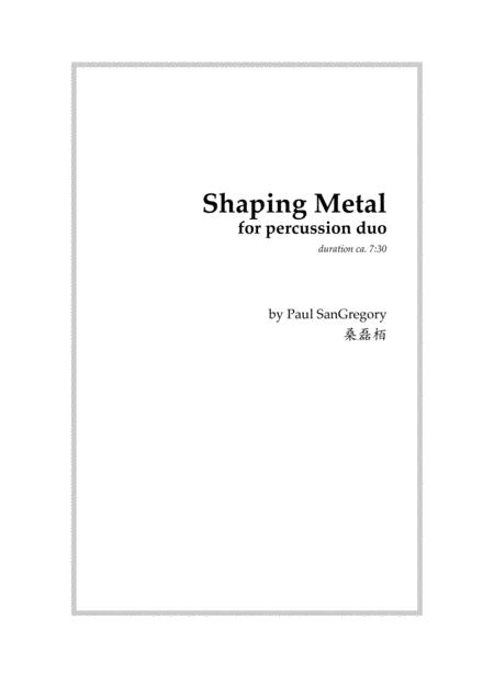 Shaping Metal (percussion duo)