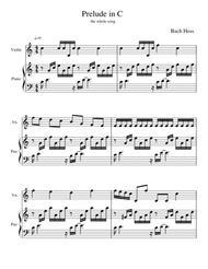 Prelude in C Major Melody