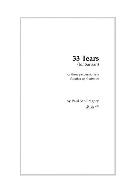 33 Tears (for percussion trio)