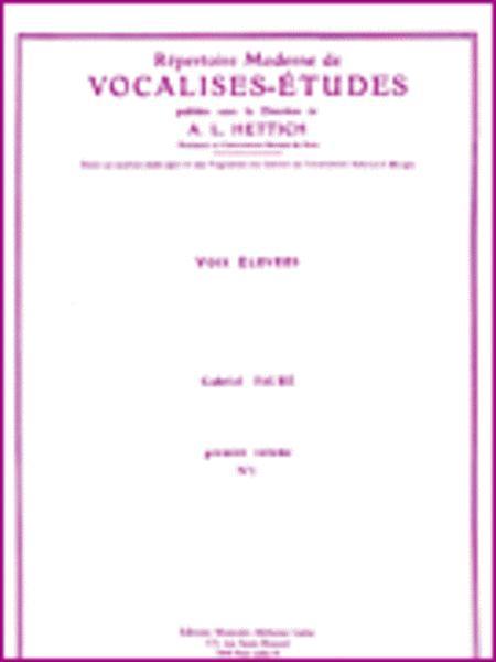 Repertoire Moderne de Vocalises-Etudes