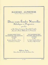 Deux cents Etudes Nouvelles Melodiques et Progressives Pour Cor - Cahier 4: Vingt Etudes Difficiles