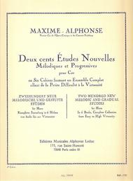 Deux cents Etudes Nouvelles Melodiques et Progressives Pour Cor - Cahier 5: Vingt Etudes Tres Diffi