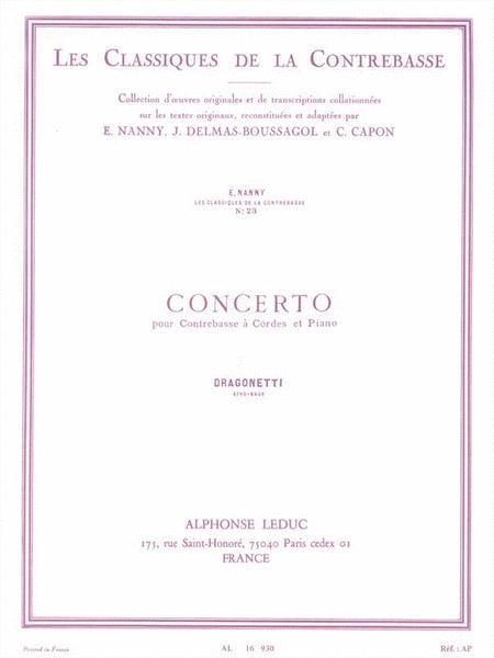 Concerto - Les Classiques de la Contrebasse