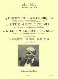 24 Petites Etudes Melodiques Avec Variations (Facile) pour Flute