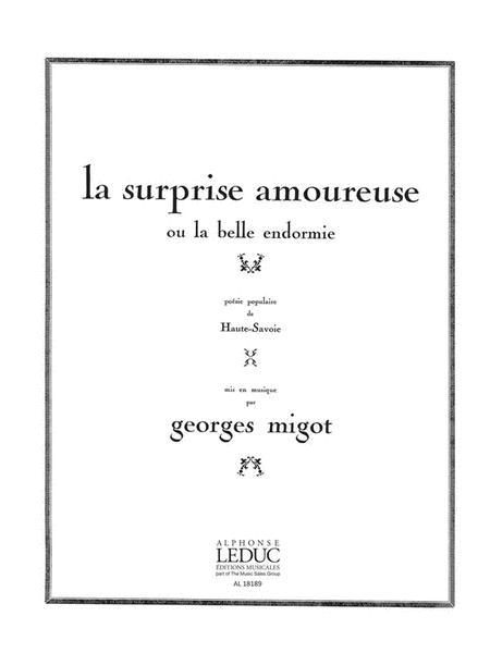 Migot Surprise Amoureuse Ou La Belle Endormie Voice & Piano Book