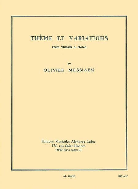 Theme et Variations pour Violon et Piano