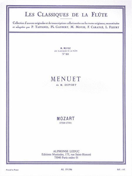 Menuet Of M. Duport - Les Classiques De La Flute N.80 Par Marcel Moyse (flute)