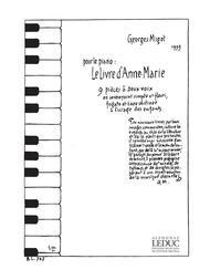 Migot Georges Livre D'anne Marie Piano Book