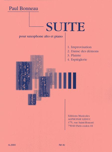 Suite for Alto Saxophone and Piano