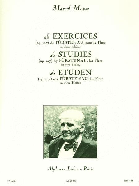26 Studies (Op. 107) de Furstenau, pour la Flute - Vol. 1