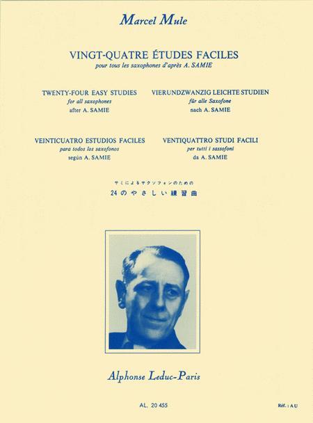 Vingt-Quatre Etudes Faciles pour Tour Les Saxophones d'apres A. Samie