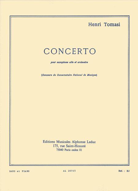 Concerto(saxophone Orchestre) Saxophone Et Piano