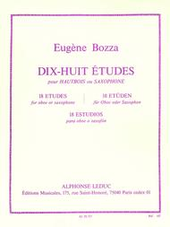 18 Etudes For Oboe Or Saxophone (oboe And Saxophone)