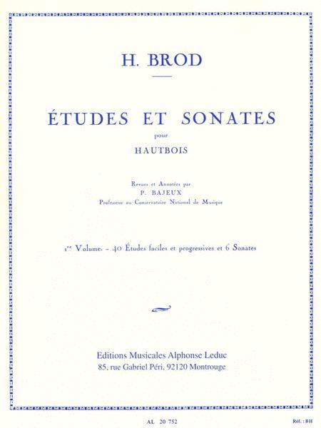 Henri Brod - Etudes Et Sonates Pour Hautbois, Vol. 1
