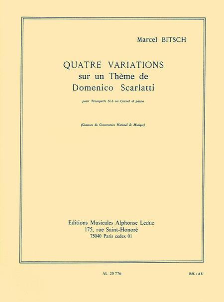 Quatre Variations Sur Un Theme De Domenico Scarlatti Pour Trompette (ou Cornet) Et Pian