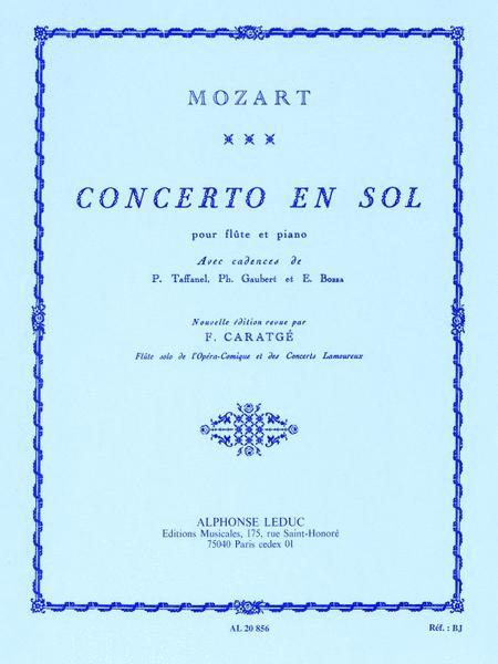 Concerto En Sol Pour Flute Et Piano