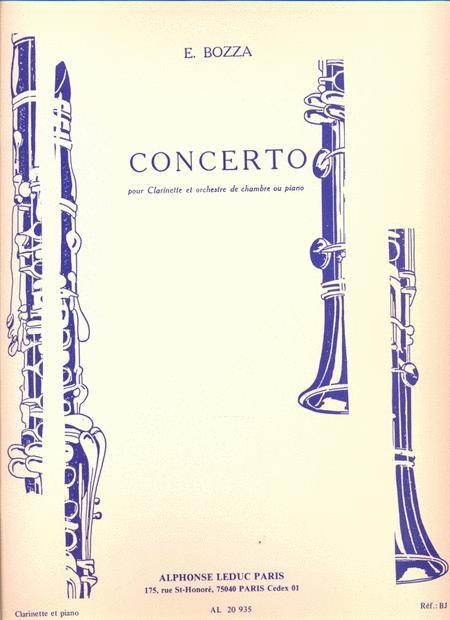 Concerto Pour Clarinette Et Orchestre De Chambre Ou Piano