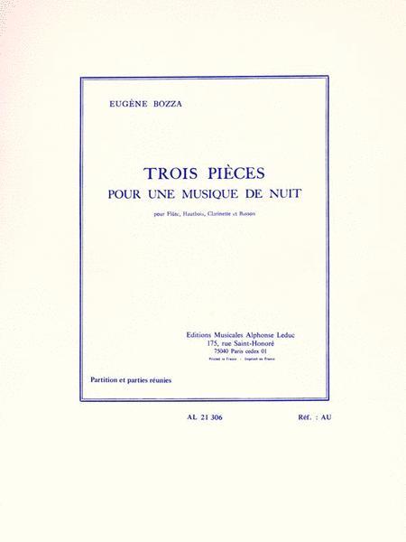 Trois Pieces Pour Une Musique De Nuit (flute/oboe/clarinet/bassoon)