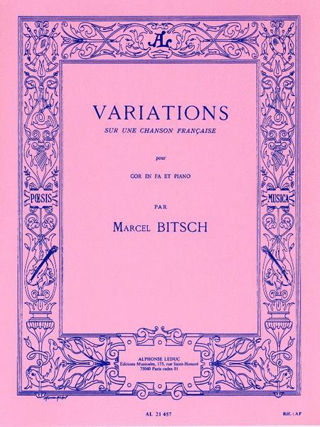 Variations Sur Un Chanson Francaise (horn & Piano)