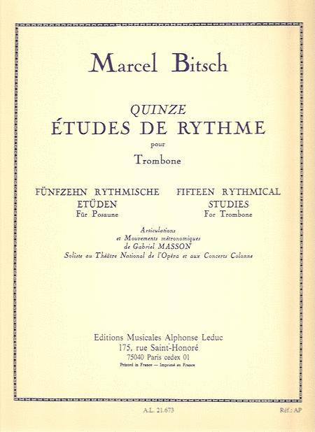 Fifteen Rhythmical Studies for Trombone