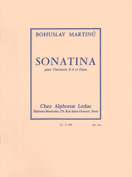 Sonatina Pour Clarinette et Piano