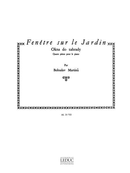 Fenetre Sur Le Jardin H270 (piano Solo)