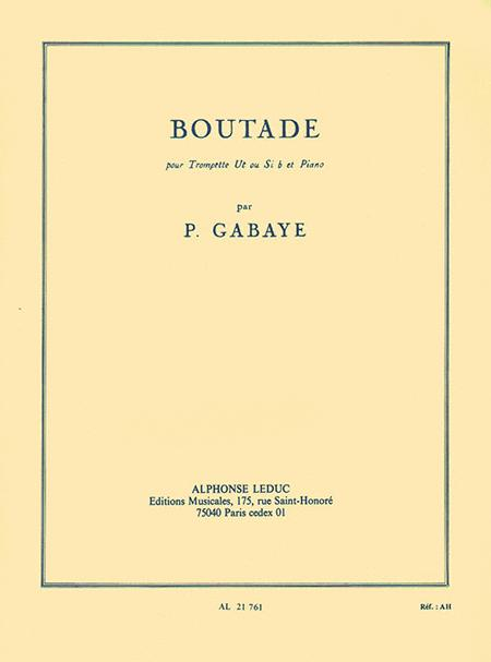 Boutade, For Trumpet And Piano