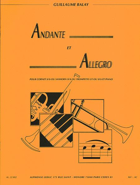Guillaume Balay - Andante Et Allegro Pour Cornet En Si Bemol (saxhorn En Si Bemol / Tro