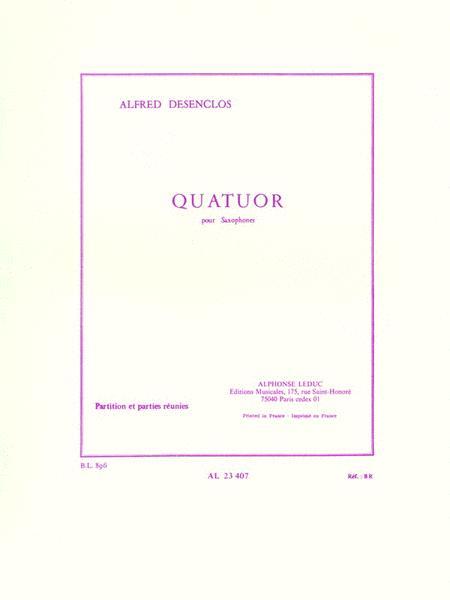 Alfred Desenclos - Quatuor De Saxophones
