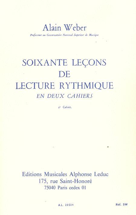 60 Lecons De Lecture Rythmique - Volume 2