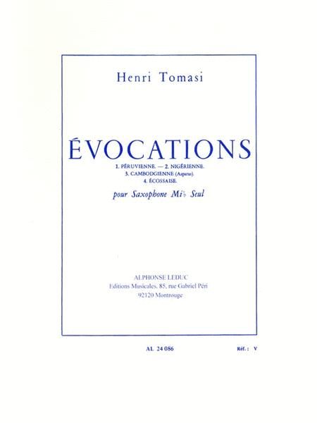 Evocations, For Solo Saxophone