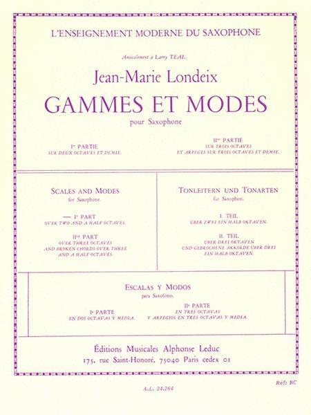 Gammes Et Modes Vol.1 (saxophone Solo)