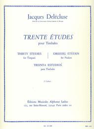 Trente Etudes Pour Timbales, 3<sup>e</sup> Cahier