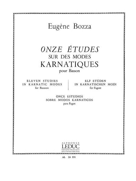 11 Etudes Sur Des Modes Karnatiques (bassoon Solo)