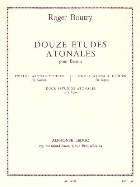 12 Etudes Atonales (bassoon Solo)