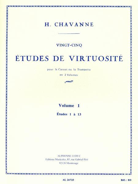 Twenty-five Studies Of Virtuosity, Vol.1 (cornet Or Trumpet)