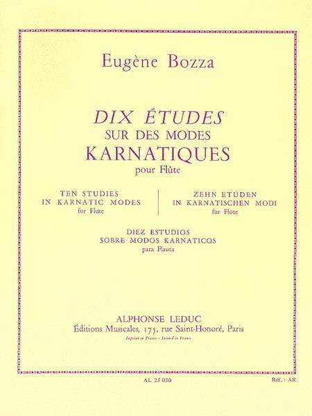 10 Etudes Sur Des Modes Karnatiques (flute Solo)