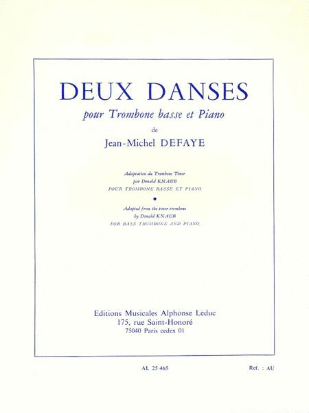 Two Dances, For Bass Trombone And Piano