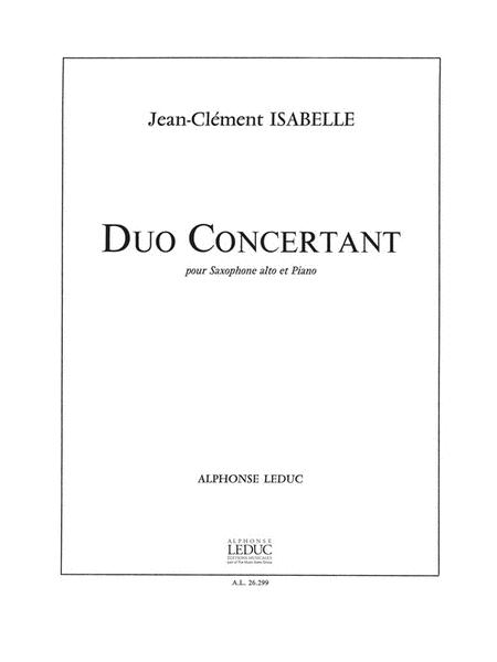 Duo Concertant (saxophone-alto & Piano)