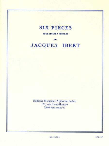 Six Pieces Pour Harpe A Pedales