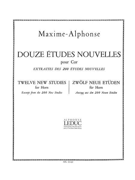 12 Etudes Nouvelles (horn Solo)